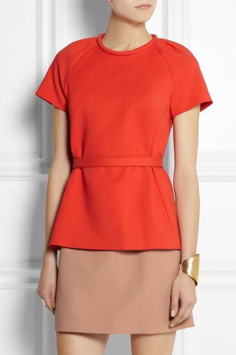 Victoria Beckham Victoria, Layer-effect cotton-blend dress