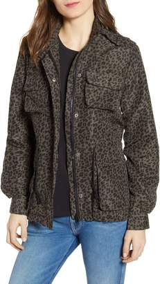 Vigoss Leopard Print Cargo Jacket