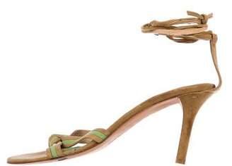Ralph Lauren Suede Wrap-Around Sandals