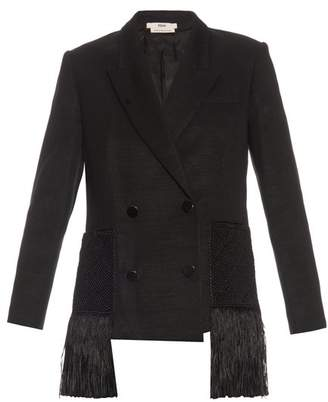 Edun Wool-twill fringed blazer