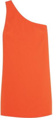 Alice + Olivia - Electra One-shoulder Crepe Mini Dress - Orange $265 thestylecure.com