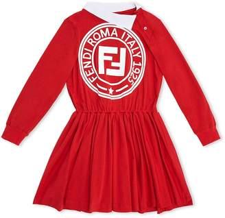 Fendi long-sleeved logo dress