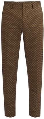 Etro Mosaic Print Trousers - Mens - Green Multi
