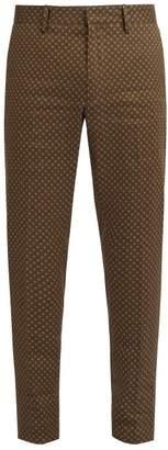 Etro Mosaic Print Trousers - Mens - Green Multi