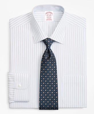 Brooks Brothers Madison Classic-Fit Dress Shirt, Non-Iron Hairline Alternating Stripe