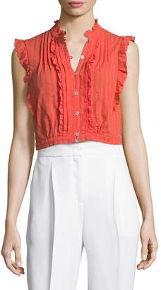 Plenty by Tracy Reese Women's Victorian Cotton Cropped Top