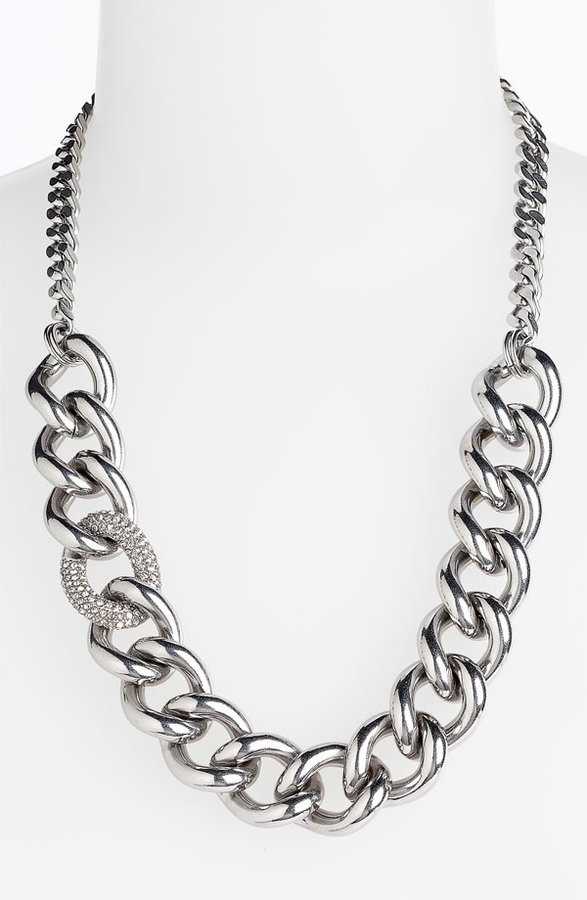Juicy Couture 'Luxe Rocks' Pavé Link Necklace
