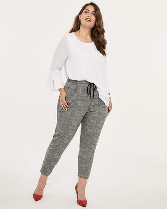 Plaid Jogger Pant with Front Pleats - In Every Story