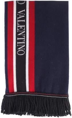 Valentino Blue Branded Scarf