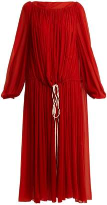BY. BONNIE YOUNG Boat-neck balloon-sleeved chiffon dress