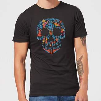 Disney Coco Skull Pattern Men's T-Shirt