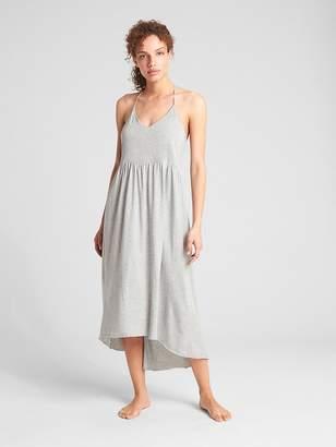 Gap Hi-Lo Halter Midi Dress in Pima Cotton