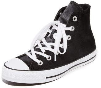 Converse Chuck Taylor All Star Velvet High Top Sneakers $65 thestylecure.com