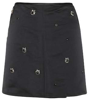 Marni Embellished satin skirt