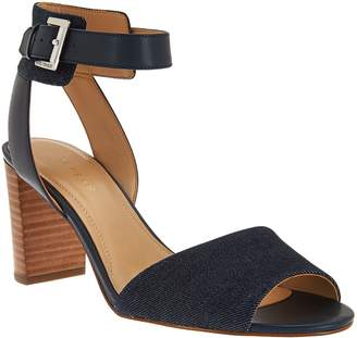 Marc Fisher Ankle Strap Block Heel Sandals - Genette