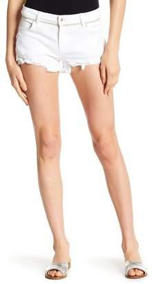 Tractr Fray Hem Distressed Denim Shorts