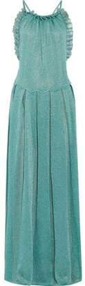 Missoni Ruffle-Trimmed Metallic Crochet-Knit Maxi Dress