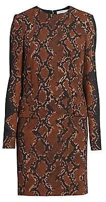 Givenchy Women's Snakeskin-Print Wool-Blend Shift Dress