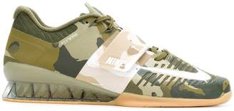 Nike camouflage lace-up sneakers