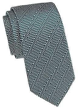 Giorgio Armani Men's Geometric Stripe Silk Tie