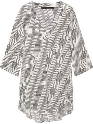 Vix - Fany Printed Voile Tunic - Black $160 thestylecure.com