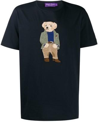 Ralph Lauren Purple Label embroidered teddybear logo T-shirt