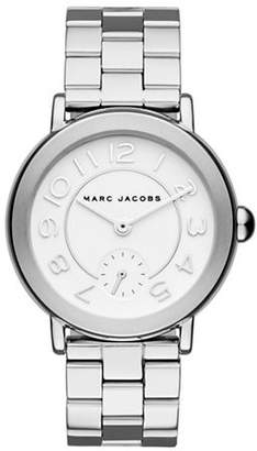 Marc Jacobs Analog Riley Silvertone Bracelet Watch