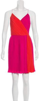 Phoebe Couture Pleated Knee-Length Dress