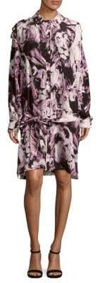 Roberto Cavalli Printed Silk Shirtdress