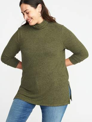 e6ff989f29c ... Old Navy Relaxed Plus-Size Plush-Knit Turtleneck