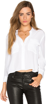 Equipment Cropped Signature Button Up $208 thestylecure.com