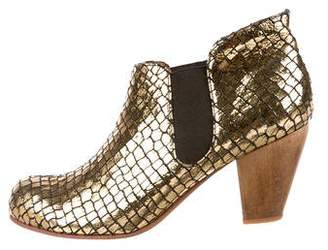 Rachel Comey Metallic Leather Ankle Boots