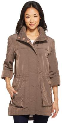Tribal Roll Up Sleeve Outerwear with Hood Women's Coat
