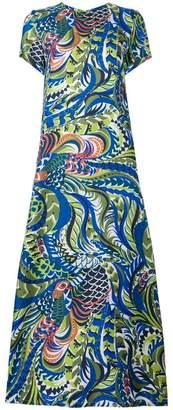La Doublej long length patterned swing dress