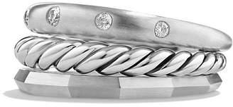 David Yurman Stax Narrow Ring with Diamonds