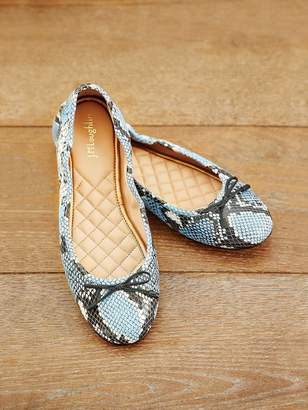 Mercer Leather Ballet Flat in Snake