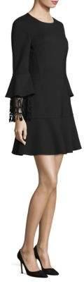 Bell-Sleeve A-Line Dress