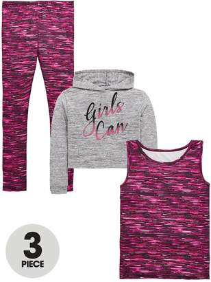 Very Girls 3 Piece Hoodie Active Outfit