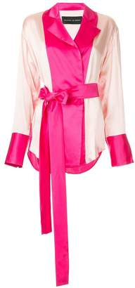 Michael Lo Sordo colour block belted jacket