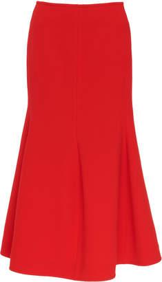 Victoria Beckham Flared Crepe Midi-Skirt Size: 10