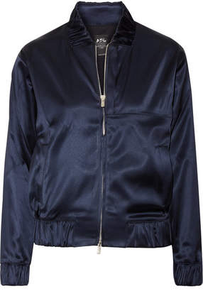 Athletic Propulsion Labs - The Perfect Stretch-satin Bomber Jacket - Navy