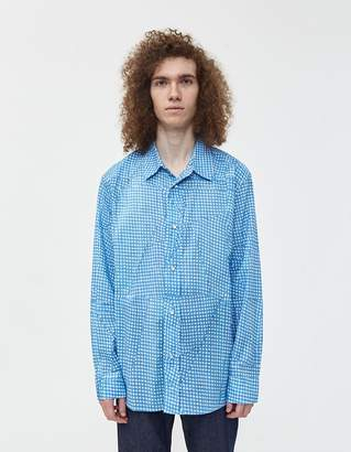Our Legacy Delicate Gingham Frontier Shirt in Blue