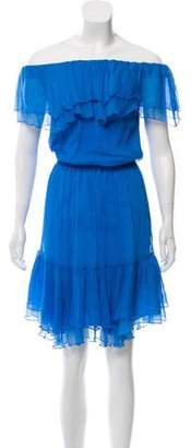 Designers Remix Charlotte Eskildsen Off-The-Shoulder Silk Dress w/ Tags