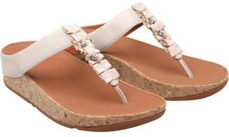 7b4424764100a0 FitFlop Womens Ruffle Toe Post Sandals Cream