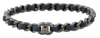 Chanel Leather Chain Bangle