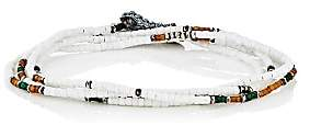 M. Cohen Men's Wrap Bracelet & Beaded Necklace-White