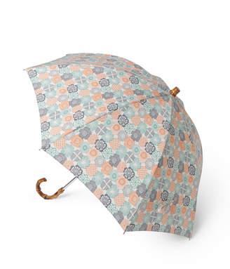 Sally Scott (サリー・スコット) - Sally Scott ブラフィックフラワープリント 晴雨兼用長傘