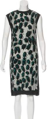 Lanvin Beetle Print Wool Dress