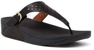 FitFlop Skinny Toe Post Lattice Wedge Sandal