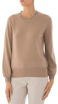 Peserico Virgin Wool, Silk & Cashmere Crewneck Sweater